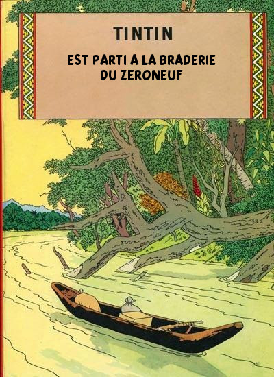 Affiche Tintin braderie